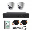 Комплект AHD видеонаблюдения на 2-е купольные камеры CoVi Security AHD-2D KIT + HDD 500 Гб