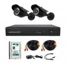 Комплект AHD видеонаблюдения на 2-е уличные камеры CoVi Security AHD-2W KIT + HDD 500 Гб