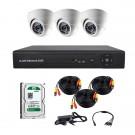 Комплект AHD видеонаблюдения на 3-и купольные камеры CoVi Security AHD-3D KIT + HDD 500 Гб