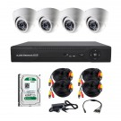 Комплект AHD видеонаблюдения на 4-е купольные камеры CoVi Security AHD-4D KIT + HDD 500 Гб