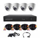Комплект AHD видеонаблюдения на 4-е купольные камеры CoVi Security AHD-4D KIT