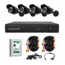 Комплект AHD видеонаблюдения на 4-е уличные камеры CoVi Security AHD-4W KIT + HDD 500 Гб