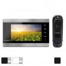 Комплект Intercom IM-12: видеодомофон Intercom IM-02 + вызывная панель Intercom IM-10 (Black)