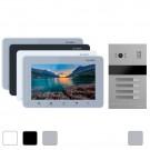 Комплект 4 видеодомофонов Slinex SM-07M + вызывная панель Slinex MA-04