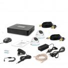 Комплект видеонаблюдения Tecsar AHD 2OUT-DOME LUX