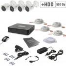 Комплект видеонаблюдения Tecsar AHD 4OUT + 500ГБ HDD