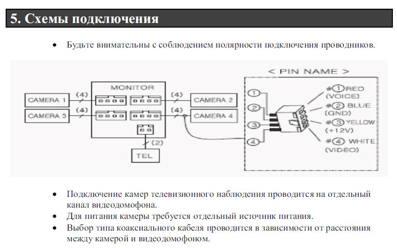 commax dp ss схема подключения