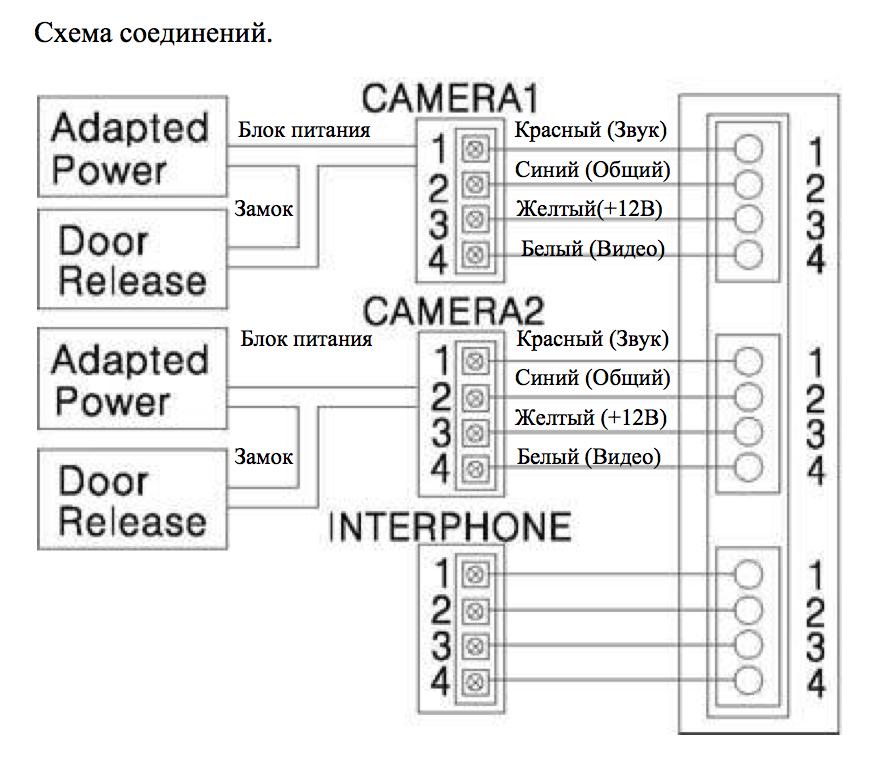 Commax cdv 70a схема подключения