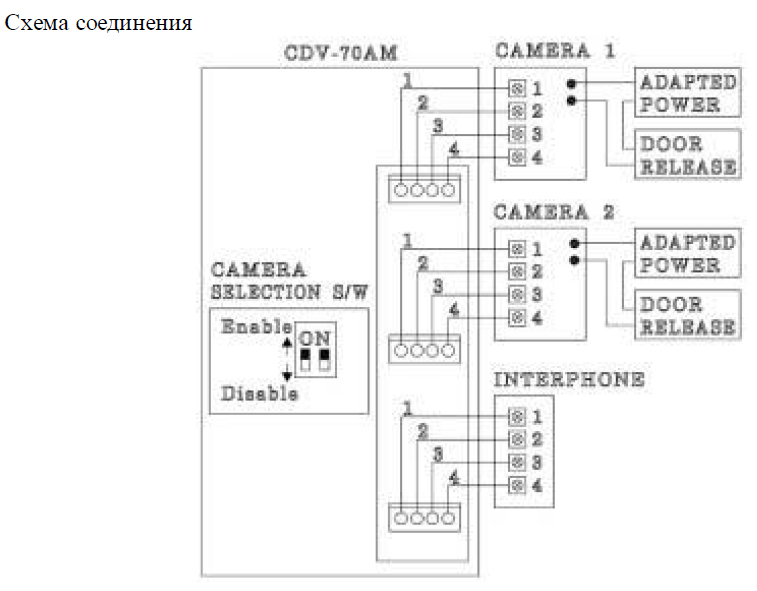 Commax 71am схема подключения