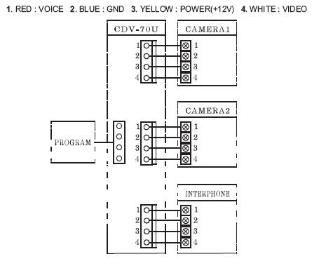 Схема подключения Commax