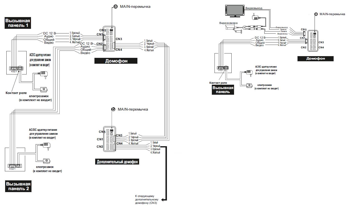 drc-4cpn2 схема подключения замка
